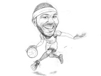 Carmelo Anthony Sketch