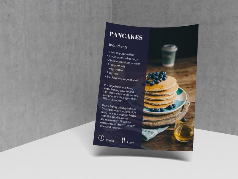 Pancakes recipe dribbbleweeklywarmup typography weekly warm-up weekly challenge design desert food pancakes