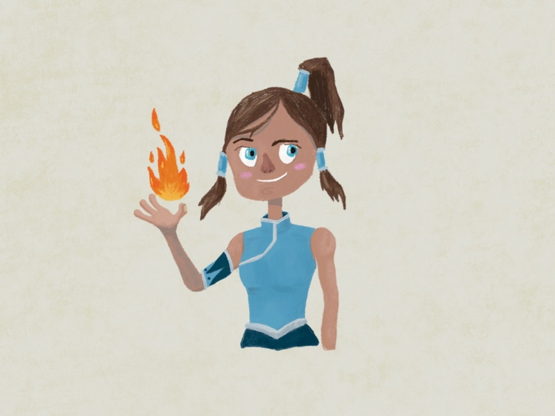 Avatar korra avatar character illustration weekly warm-up weekly challenge design