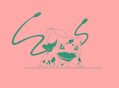 Bulbasaur bulbasaur pokemon ua ukraine dribbbleweeklywarmup illustration character vector weekly warm-up weekly challenge design