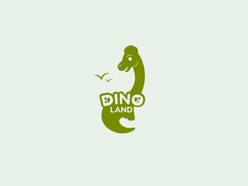 dino land v2 dinosaur dino logo ua ukraine branding vector weekly warm-up weekly challenge design dribbbleweeklywarmup