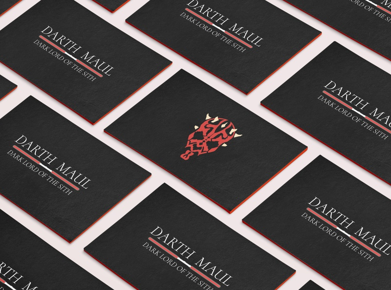 Dart Maul Business Card design branding vector illustration business card weekly challenge weekly warm-up character vallain sith dart maul dart