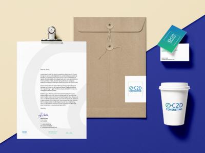 C2D Consulting environment design green typograpgy typography branding vector design logo