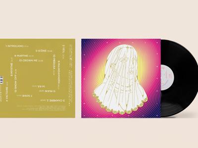 Irène Dresel - Hyper Cristal album cover vinyl cover edition rennes france paris techno spring music psychedelic colorful design typography illustration