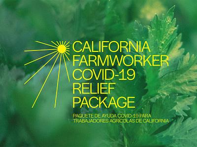 California Farmworker COVID-19 Relief Package politics branding logo design graphic design