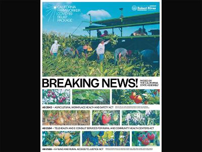 California Farmworker - Announcement Poster politics branding design poster poster design graphic design