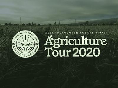 Rivas Agriculture Tour 2020 graphic design design logo branding politics