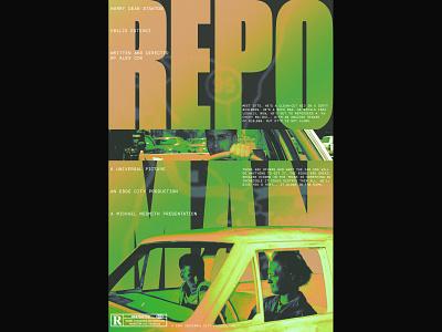Repo Man poster design movie poster graphic design film