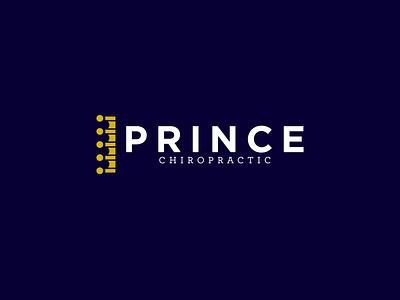 Prince Chiropractic back spine logo spine crown crown logo wellness logo health chiropractic chiropractor branding concept branding design brand identity logo design branding logo