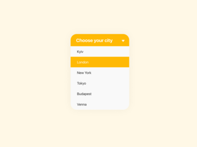 Daily UI #027 - Dropdown