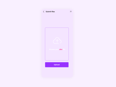 Daily UI #031 - File Upload
