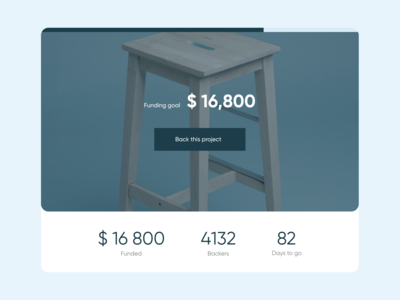Daily UI #032 - Crowdfunding Campaign