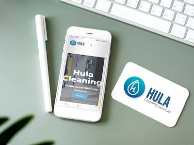 Hula Cleaning Brand website design branding