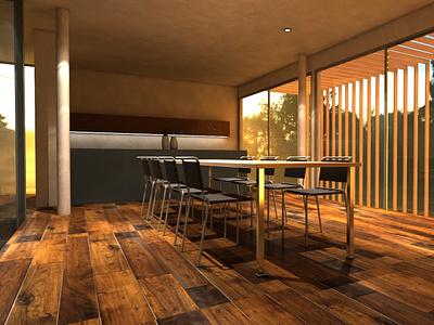 Sunset Meeting Room architechture 3d 3d art archviz
