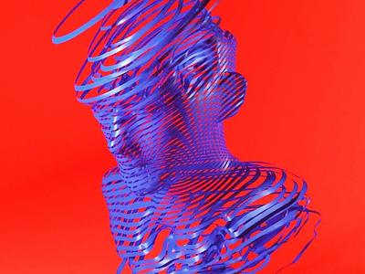 Unwind colors render 3d illustration