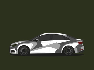 Audi S3 Camouflage by UGLY DUCKLING Design