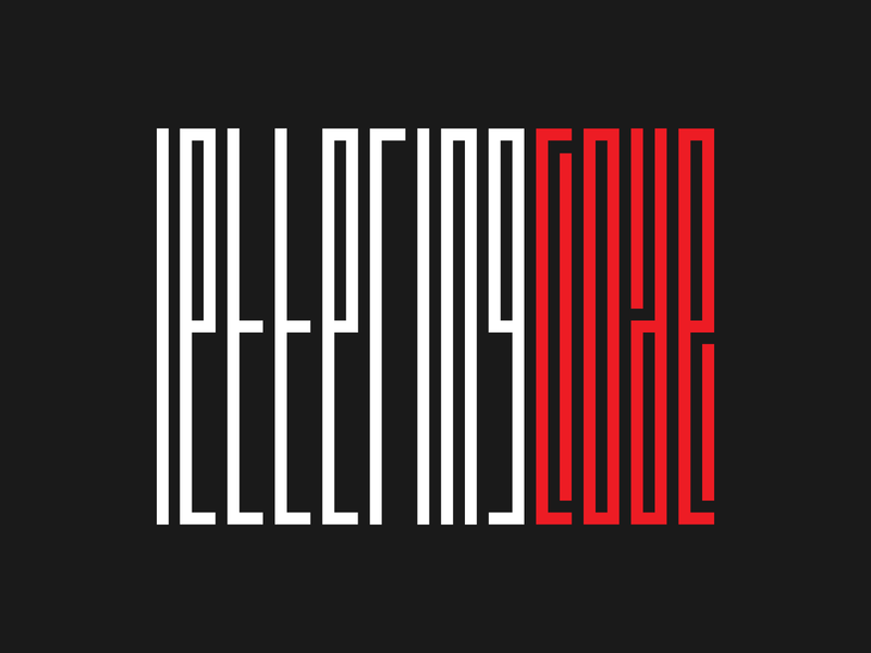 Lettering — Code animation flat typography branding barcode design gif illustration lettering typographic