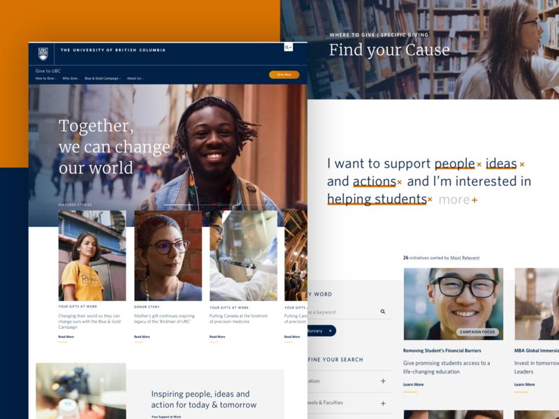 Donor platform concept designs education web design platform ux ui website web
