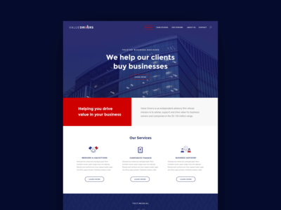 Value Drivers: Website Redesign