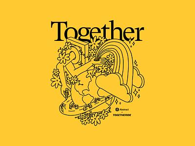 Abstract + Togetheride Pride Illustration shirt apparel illustration