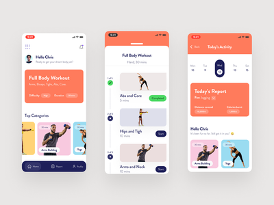 Fitness App workout app workout weight trainer strength running mobile fitness app fitness icons gym graphics ux ui exercise body app