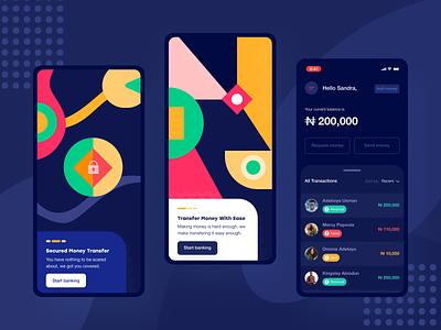 Money Transfer App app design payment money transfer transfer banking ux ui mobile fintech finance app