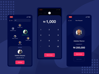 Money Transfer App app design payment transfer banking ux ui money mobile fintech finance app