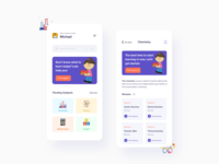 Highschool Learning Platform highschool college student school lesson study interface ux ui uiux mobile ui mobile app mobile module knowledge learning education app