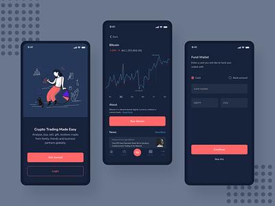 Crypto Trading Concept cryptoexchange crypto blockchain fintech app design mobile ux app