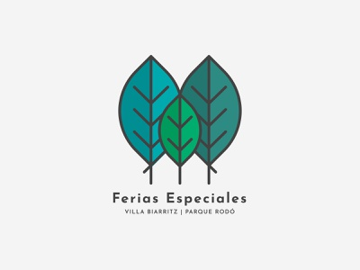 Ferias Especiales leaves logo leaves tree illustrator minimal illustration branding vector design uruguay logo