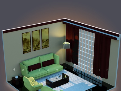 Isometric interior designs