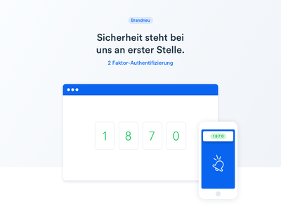 Newsletter Graphic - 2 Factor Authentication illustration graphic webdesign website newsletter typo green blue authentication authenticate 2 factor ux ui