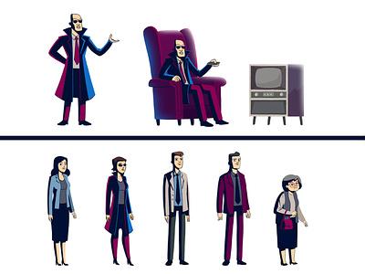 MDO // Character Design customer woman man visualdevelopment conceptdesign digitalpaint digitalillustration illustration characterdesign character
