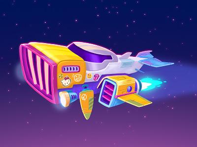 Spaceship toon conceptdesign digitaldrawing visualdevelopment design illustration art digitalpaint digitalillustration