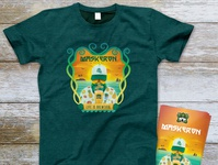 Maskern Aloha t-shirt and flyers