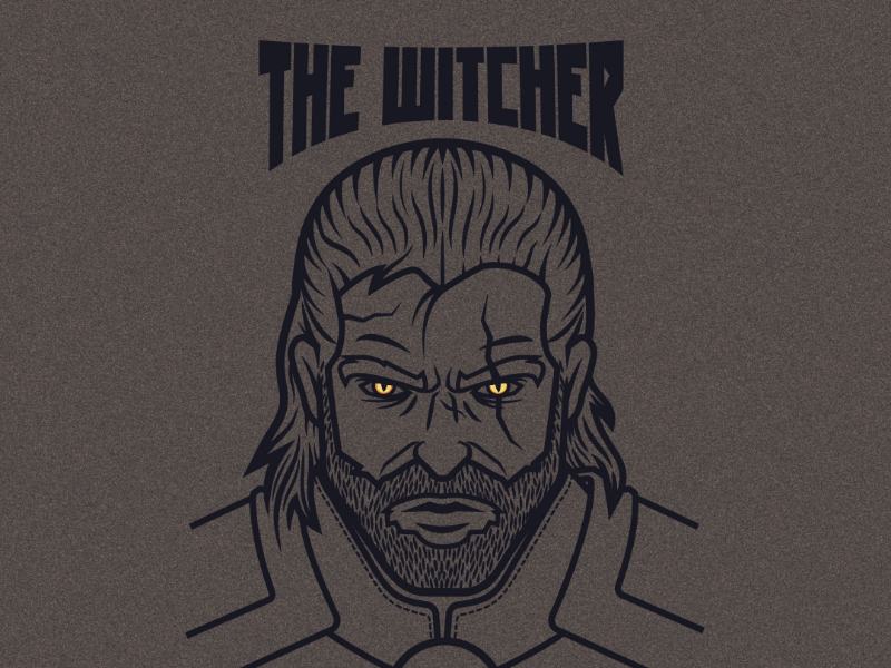 The witcher illustration vector art the witcher geralt