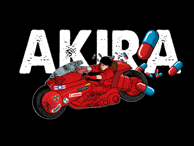 Akira japan design vector art adobe illustration vector teeshirt illustrator
