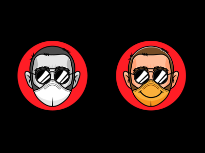 covid19 avatar vector art illustrator illustration vector mascot corona covid19 mask