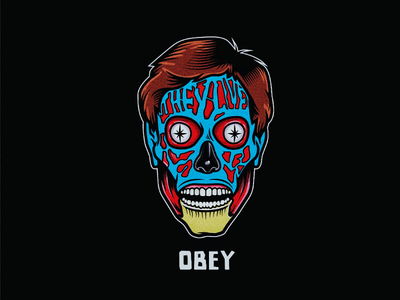 They live movie illustration vector they live obey
