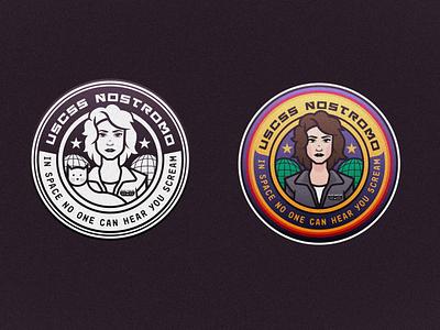 USCSS NOSTROMO icon adobe teeshirt typography movie vector art vector illustrator illustration aliens alien