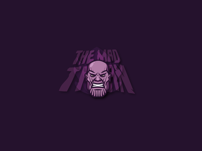 the mad titan icon movie adobe design teeshirt illustrator vector art vector illustration thanos