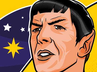 Spock teeshirt illustration movie adobe illustrator vector illustration vulcan startrek vector