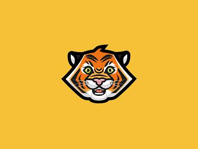 Tiger vector art icon brand logo design illustrator vector illustration cute illustration roar jungle animal cute