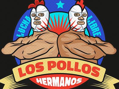 los pollos hermanos adobe typography design teeshirt vector art illustrator illustration vector vintage mexico tacos luchadore lucha libre breaking bad