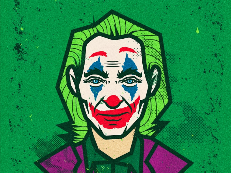 The joker joker character movie illustrator illustration vector
