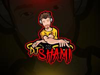 #djshami Mascot Logo Design