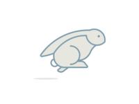 Rabbit in Action Logo Design