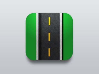 Roadtrack design clean apple icon art app icon iphone ios7 interactive ui creative