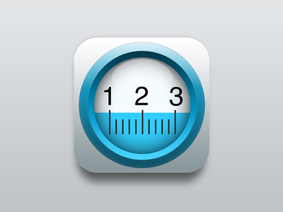Measurement App icon icon ios icons app photoshop measurement apple clear white water ios8 android