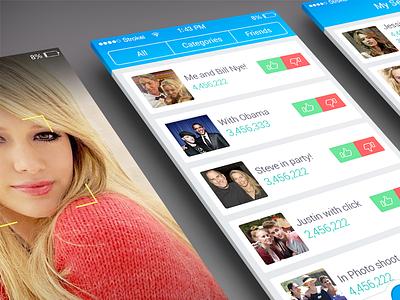 Celebrity App UI ui interface user iphone app application ios ios7 photo share profile clean
